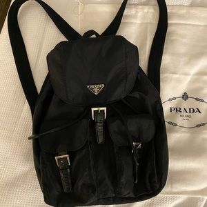 Prada Logo Hardware Nylon Backpack
